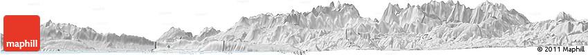 Silver Style Horizon Map of Shkodër