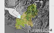 Satellite Map of Shkodër, desaturated