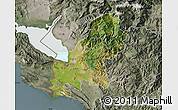 Satellite Map of Shkodër, semi-desaturated
