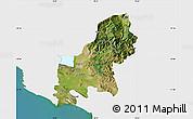 Satellite Map of Shkodër, single color outside
