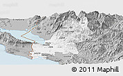 Gray Panoramic Map of Shkodër