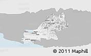 Gray Panoramic Map of Shkodër, single color outside