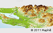 Physical Panoramic Map of Shkodër