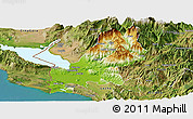 Physical Panoramic Map of Shkodër, satellite outside