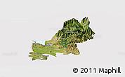 Satellite Panoramic Map of Shkodër, cropped outside