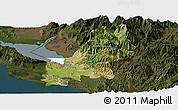 Satellite Panoramic Map of Shkodër, darken