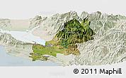 Satellite Panoramic Map of Shkodër, lighten