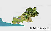 Satellite Panoramic Map of Shkodër, single color outside