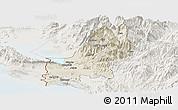Shaded Relief Panoramic Map of Shkodër, lighten