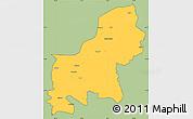 Savanna Style Simple Map of Shkodër, cropped outside
