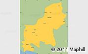 Savanna Style Simple Map of Shkodër, single color outside