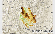 Physical Map of Skrapar, shaded relief outside