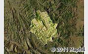 Satellite Map of Skrapar, darken
