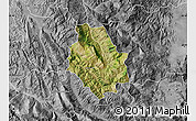 Satellite Map of Skrapar, desaturated