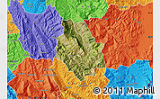 Satellite Map of Skrapar, political outside