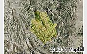 Satellite Map of Skrapar, semi-desaturated