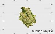 Satellite Map of Skrapar, single color outside