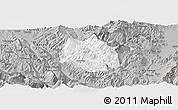 Gray Panoramic Map of Skrapar