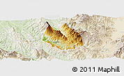 Physical Panoramic Map of Skrapar, lighten