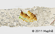 Physical Panoramic Map of Skrapar, shaded relief outside