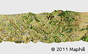 Satellite Panoramic Map of Skrapar