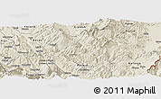 Shaded Relief Panoramic Map of Skrapar