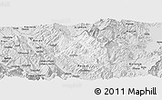 Silver Style Panoramic Map of Skrapar