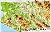 Physical 3D Map of Tepelenë