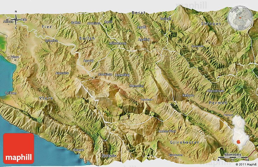Satellite 3D Map of Tepelen