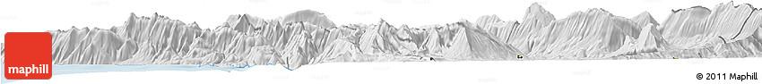 Silver Style Horizon Map of Tepelenë
