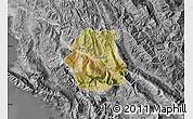 Satellite Map of Tepelenë, desaturated