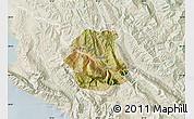 Satellite Map of Tepelenë, lighten