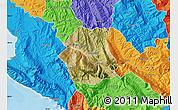Satellite Map of Tepelenë, political outside