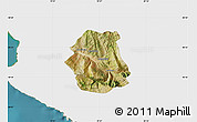 Satellite Map of Tepelenë, single color outside