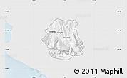 Silver Style Map of Tepelenë, single color outside