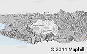 Gray Panoramic Map of Tepelenë
