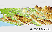 Physical Panoramic Map of Tepelenë