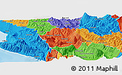 Political Panoramic Map of Tepelenë