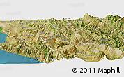 Satellite Panoramic Map of Tepelenë
