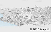 Silver Style Panoramic Map of Tepelenë