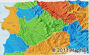 Political 3D Map of Tiranë
