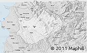 Silver Style 3D Map of Tiranë