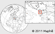 Blank Location Map of Tiranë