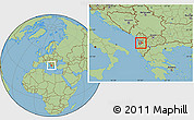 Savanna Style Location Map of Tiranë