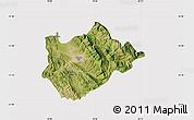 Satellite Map of Tiranë, cropped outside