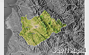 Satellite Map of Tiranë, desaturated