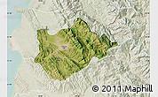 Satellite Map of Tiranë, lighten