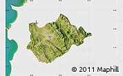 Satellite Map of Tiranë, single color outside