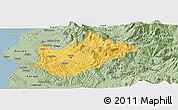 Savanna Style Panoramic Map of Tiranë