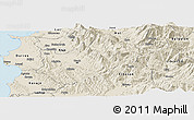Shaded Relief Panoramic Map of Tiranë